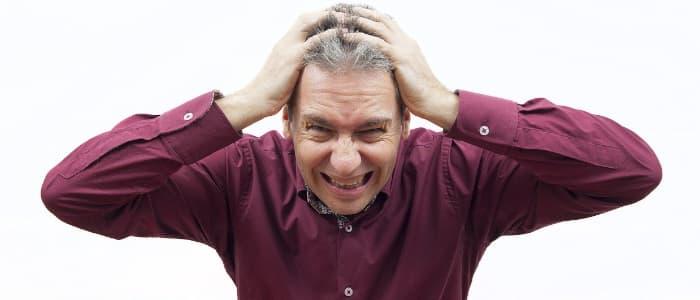 Symptome für Stress